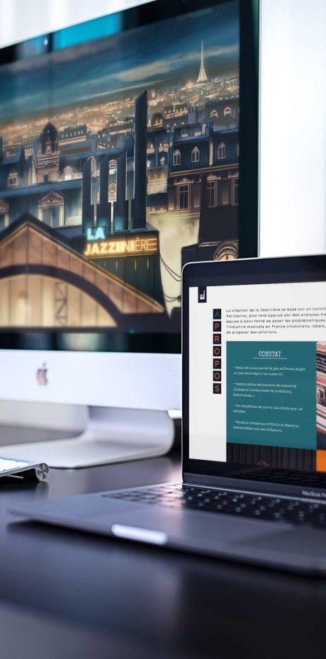 Design du site la Jazzinière